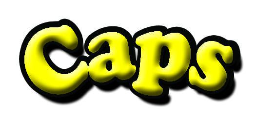 CAPS YELLOW LOGO